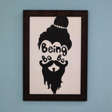 Being baba washable poster with frames