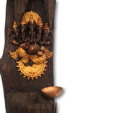 Panchmukhi Ganesh idol wall hanging with diya