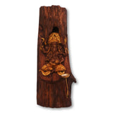 Wooden Ganesh idol wall hanging with diya