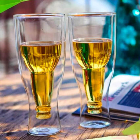Inverted Double Wall Beer Glasses