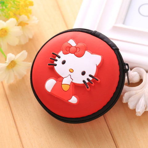 Hello Kitty Round Earphone Zipper Pouch & Case