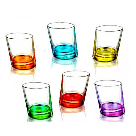Slanted Colored drinking glasses