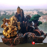Lord Ganesha Gold Idol smoke fountain