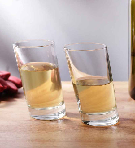 Slanted Drinking Glass Set of 6