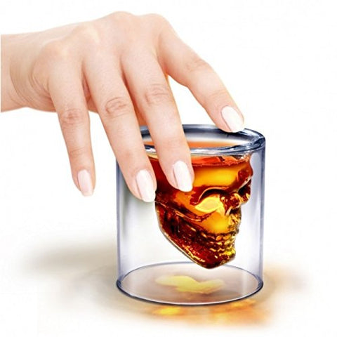 Skull Crystal 150ml Shot Whiskey Vodka Glass