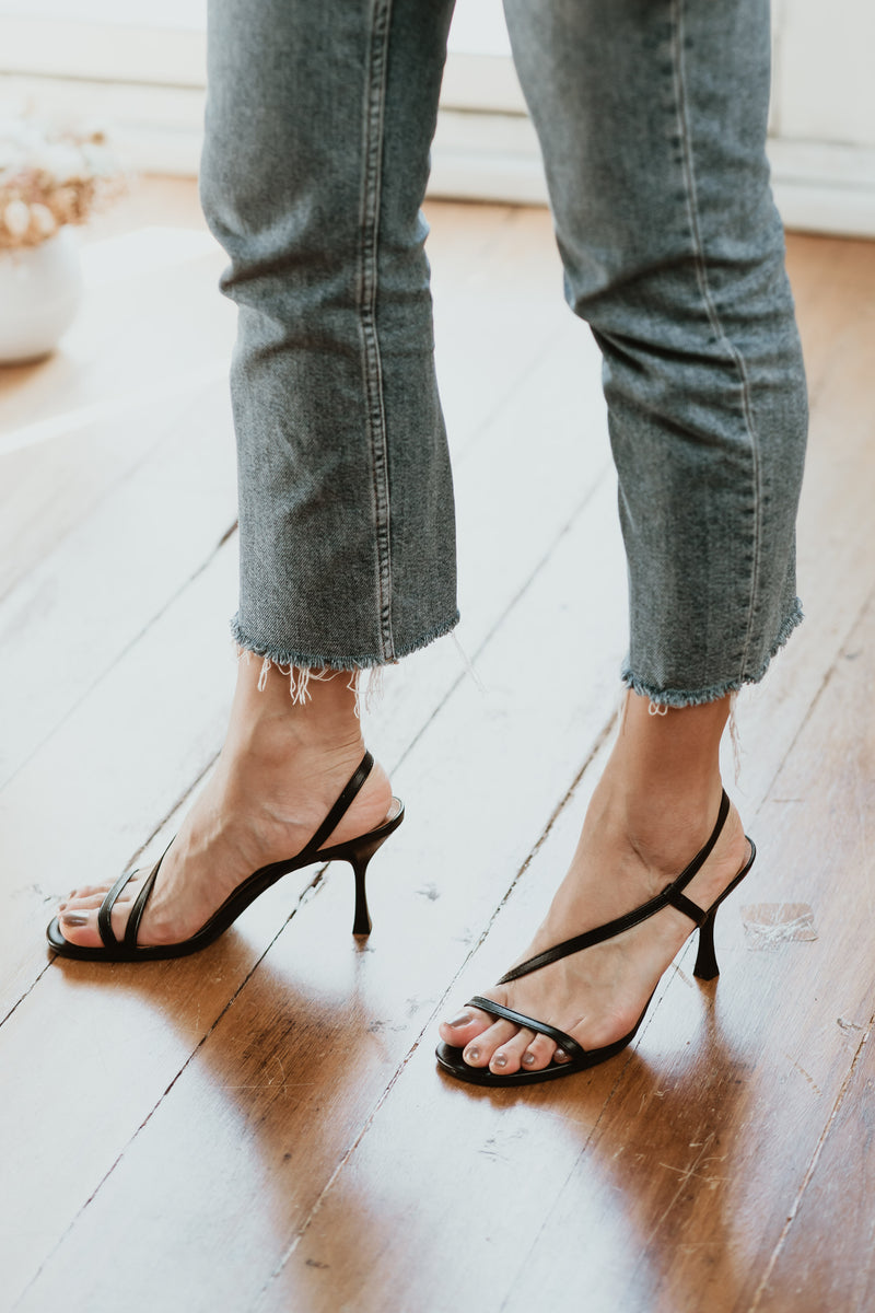 Sadie Strappy Heels in Black