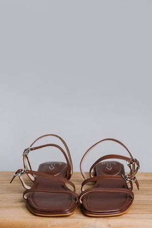 Load image into Gallery viewer, Faye Sandals in Chocolate