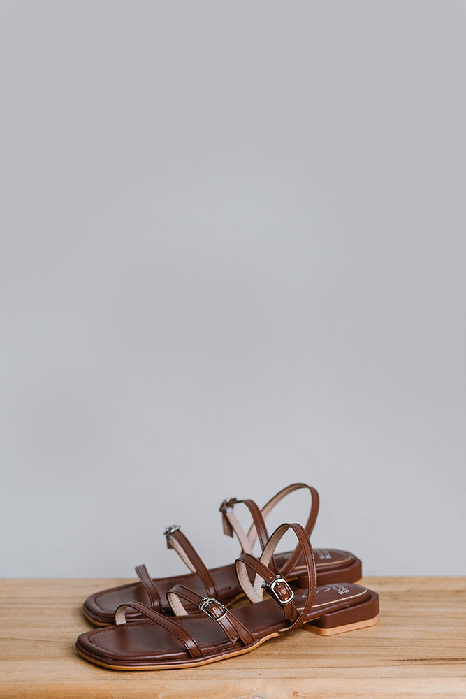 Faye Sandals in Chocolate