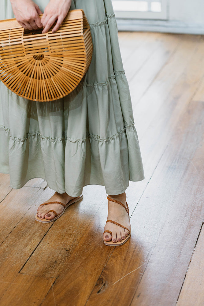 Load image into Gallery viewer, Athena Woven Sandals in Camel