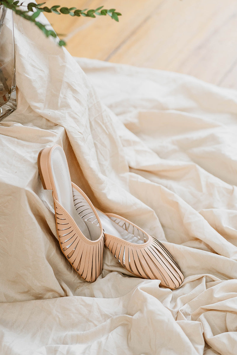 (BACKORDER CLOSED) Cora Strappy Clear Heels in Cream