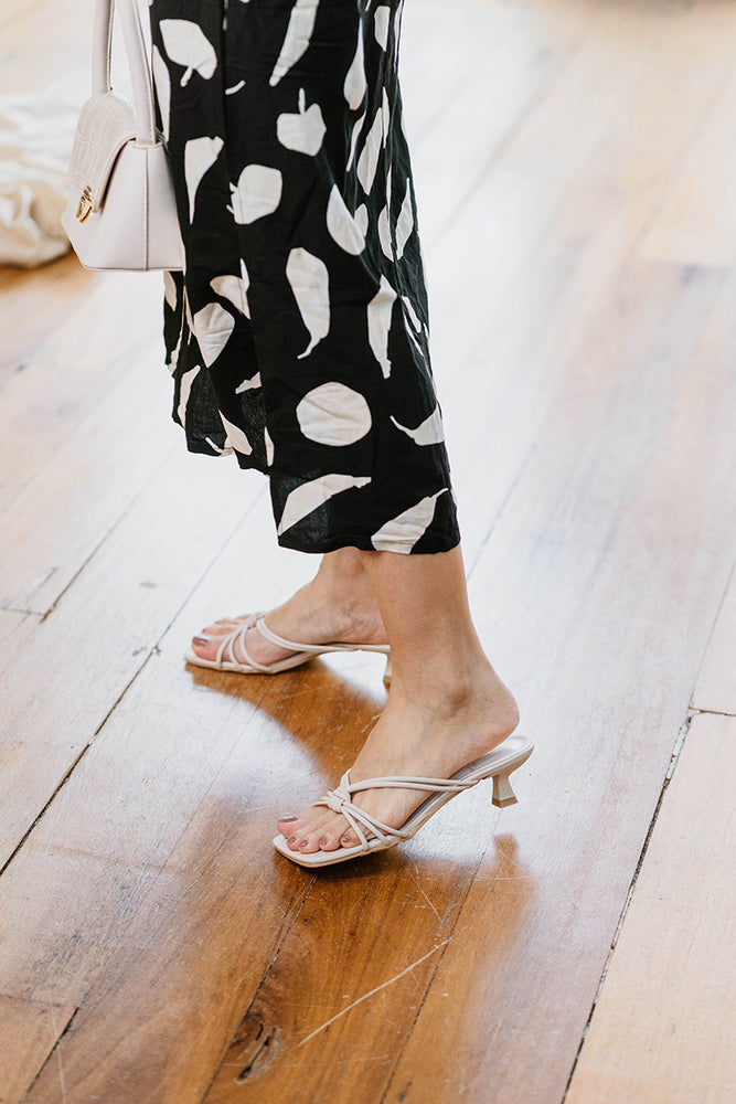 Load image into Gallery viewer, Posey Strappy Heels in Cream