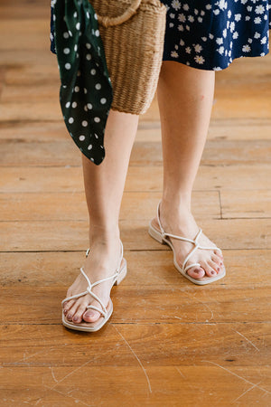 Load image into Gallery viewer, Felicity Sandals in Cream