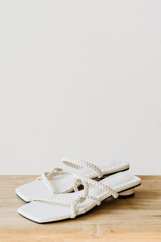 Livvy Sliders in Cream