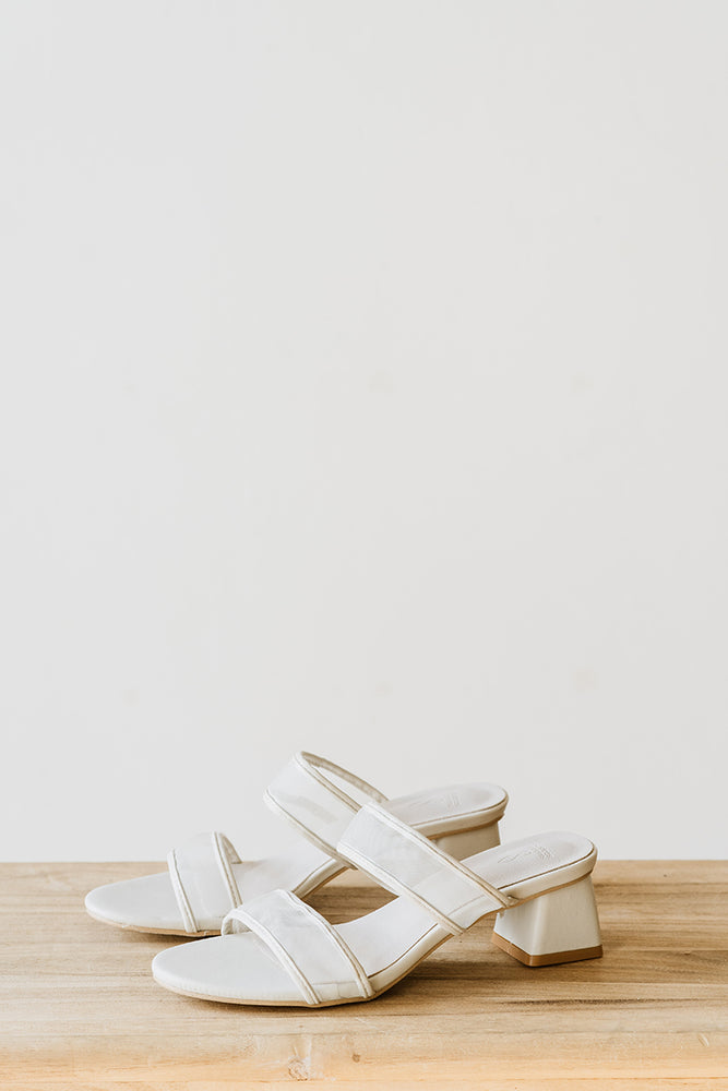 Load image into Gallery viewer, Hathaway Mesh Heels in Cream
