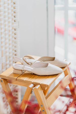 Load image into Gallery viewer, Melba Slingback Flats in Nude