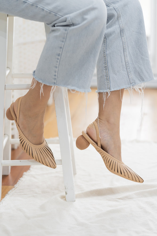 Poppy Heels in Nude