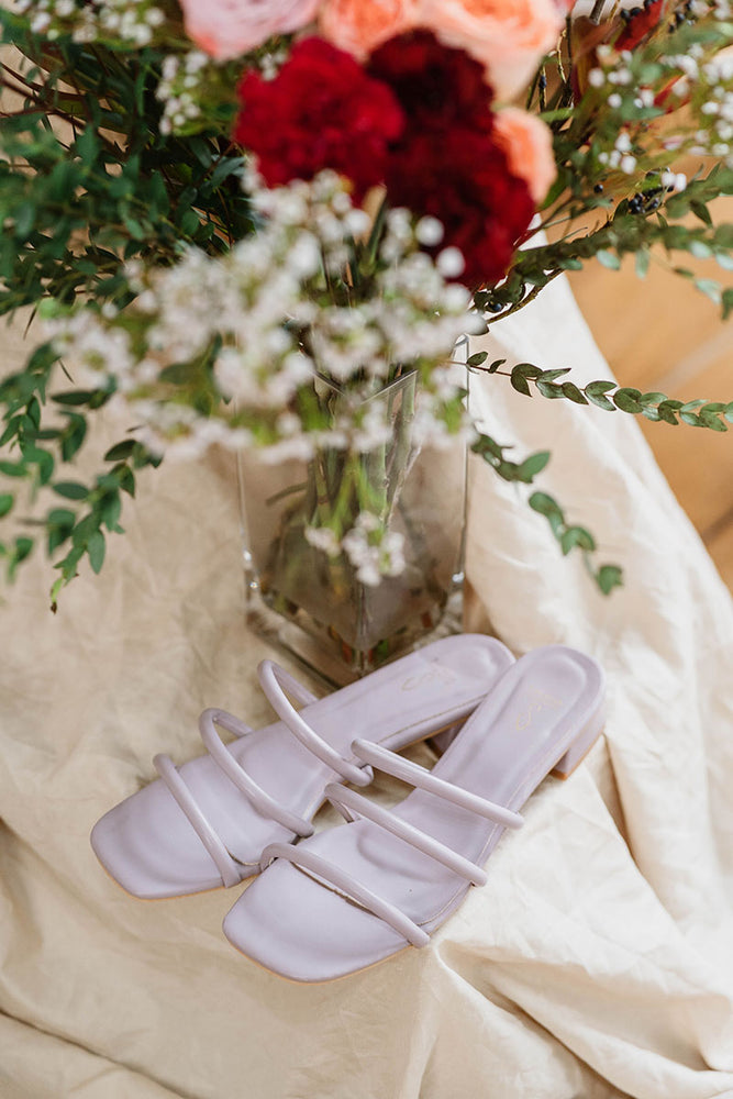 Load image into Gallery viewer, Lily Strappy Heels in Lilac