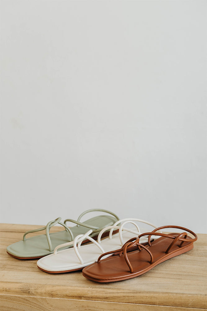 Load image into Gallery viewer, Freida Sandals in Cream