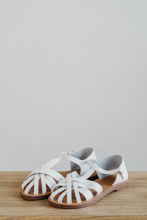 Load image into Gallery viewer, Peggy Sandals in White