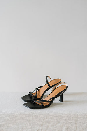 Load image into Gallery viewer, Sierra Strappy Heels in Black