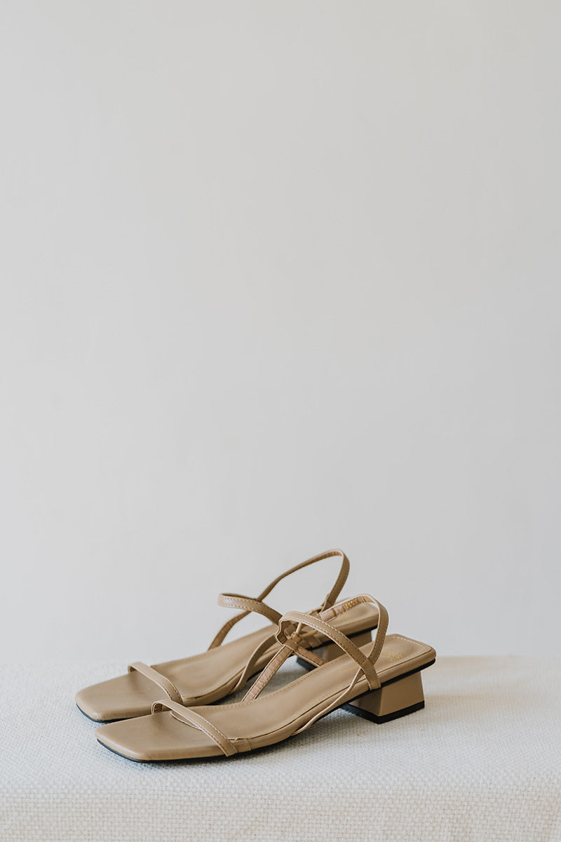Ellie Sandals in Ecru