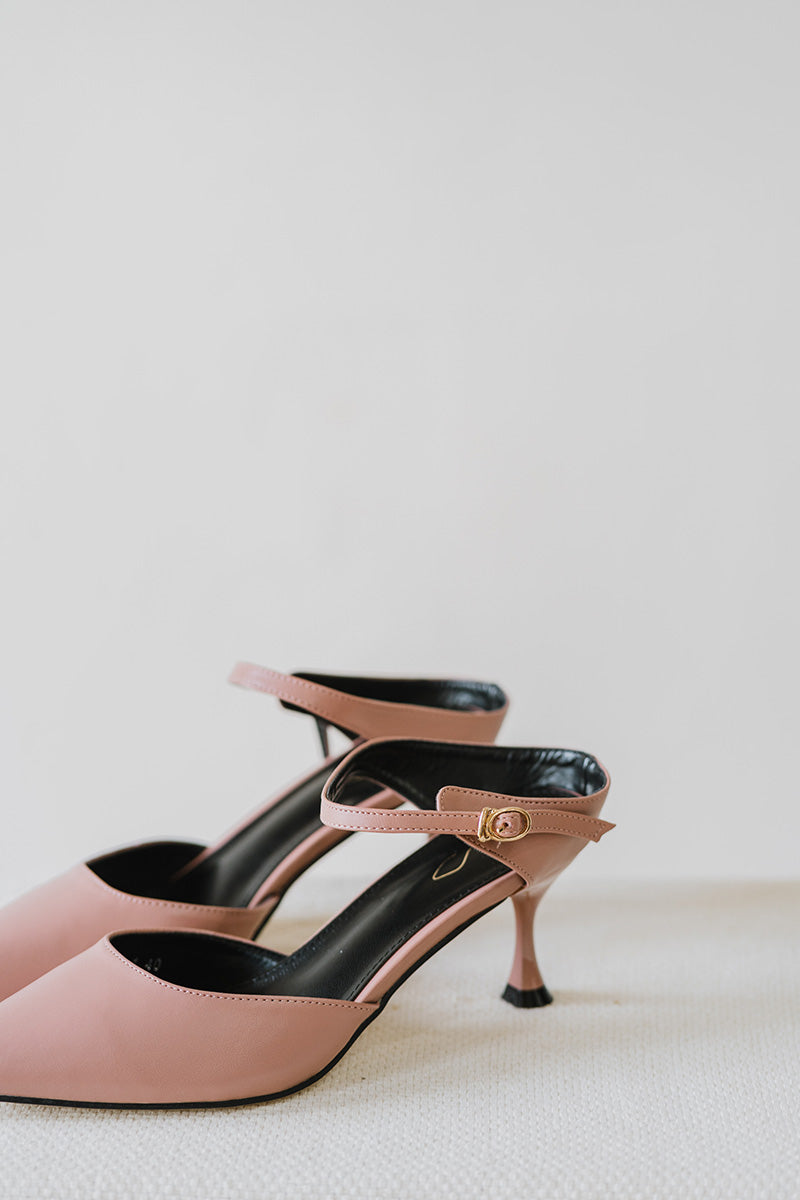 Yara Slip on Heels in Rose