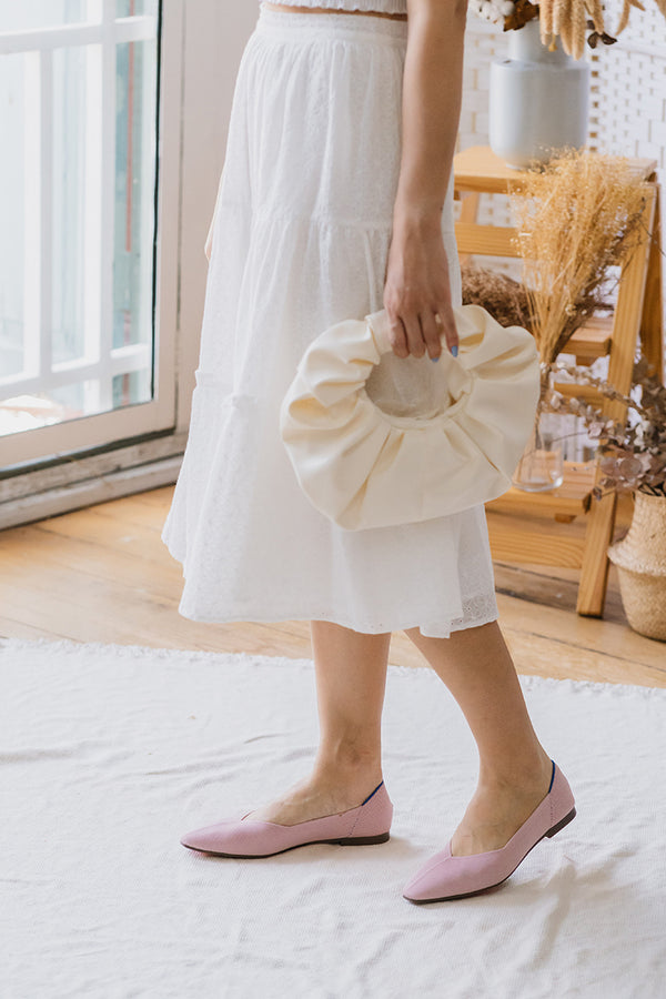 Chloe Flats in Baby Doll Pink