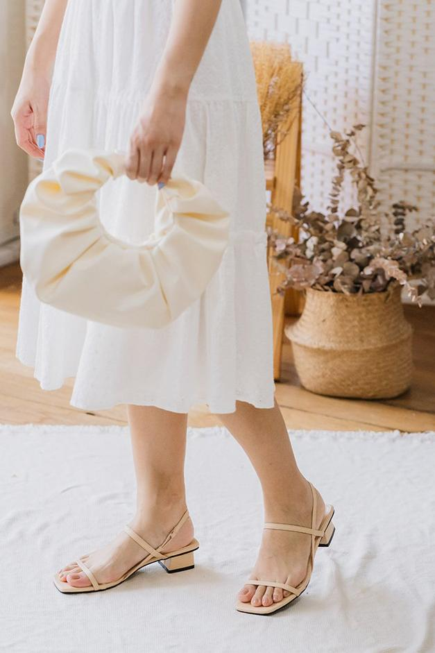 Ellie Sandals in Cream