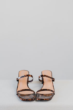 Load image into Gallery viewer, Lenka Strappy Heels in Tortoise Shell