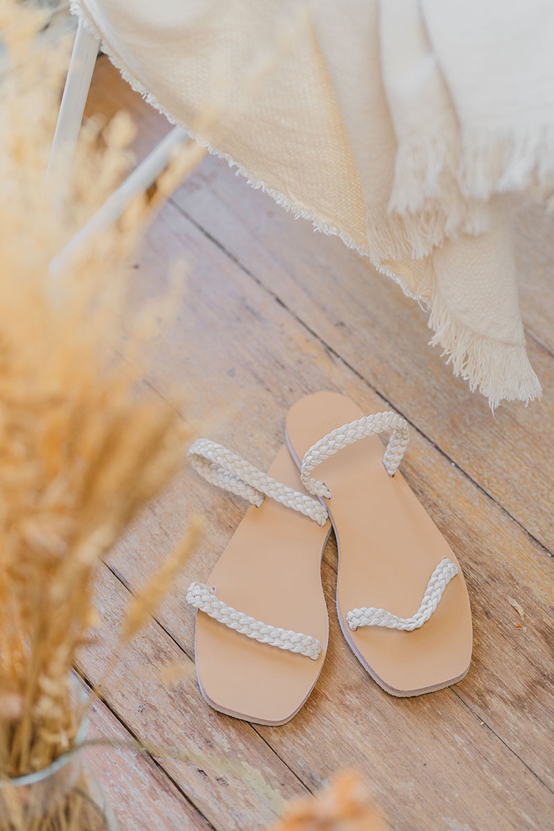 Robin Rope Sliders in Cream