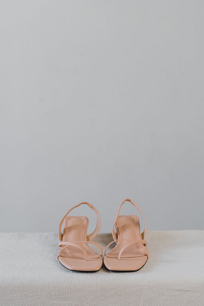 Load image into Gallery viewer, Hazel Strappy Sandals in Nude