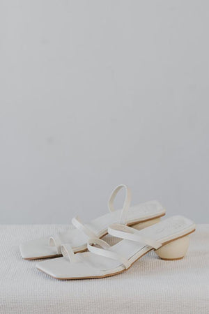 Load image into Gallery viewer, Twila Strappy Heels in Cream