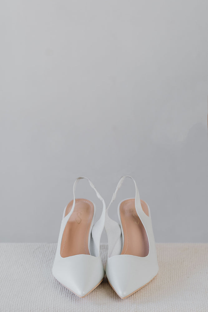 Load image into Gallery viewer, Astrid Heels in White (Still available in-stores)