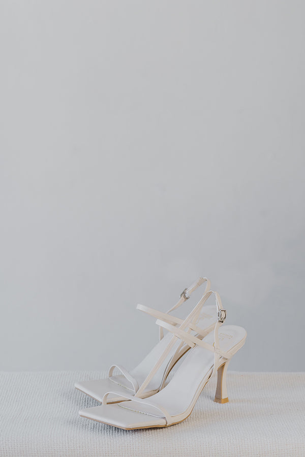 Kari Strappy Heels in Cream