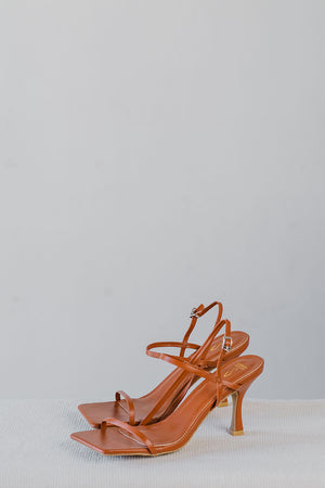 Load image into Gallery viewer, Kari Strappy Heels in Camel