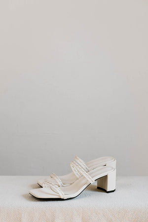 Load image into Gallery viewer, Capella Woven Strappy Heels in Cream