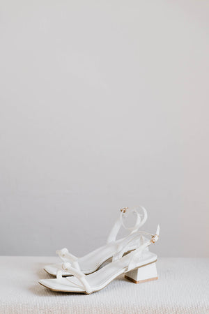 Load image into Gallery viewer, Amalia Strappy Heels in Cream