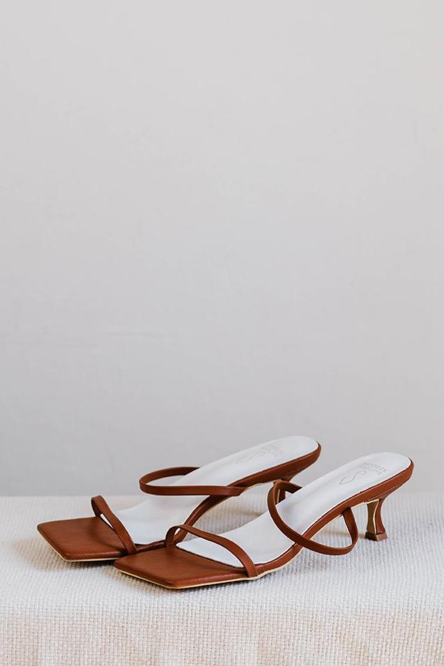 Shonna Strappy Heels in Chocolate