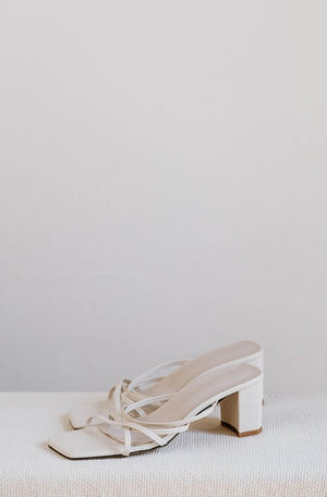 Lori Strappy Heels in Cream