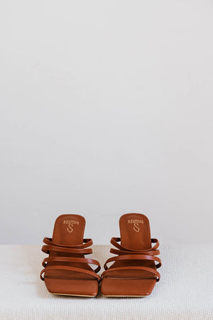 Load image into Gallery viewer, Taya Strappy Heels in Chocolate