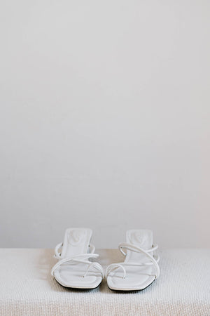 Load image into Gallery viewer, Sydney Strappy Heels in Cream