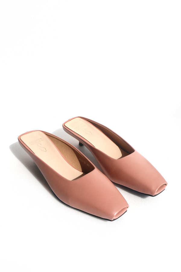Piper Slip-on Heels in Rose