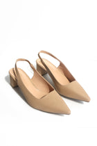 Holly Slingback Heels in Nude