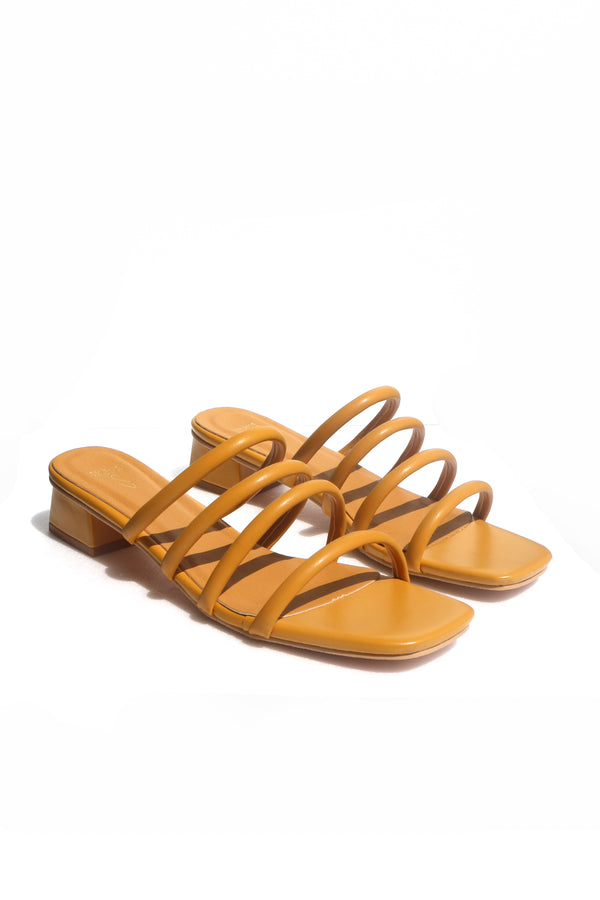 Zara Sliders in Mustard