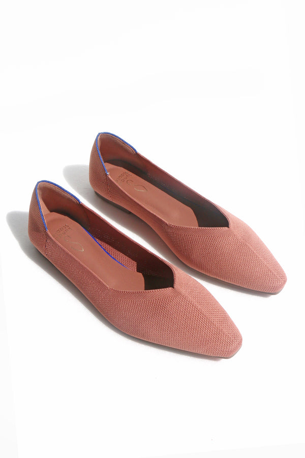 Chloe Flats in Rose