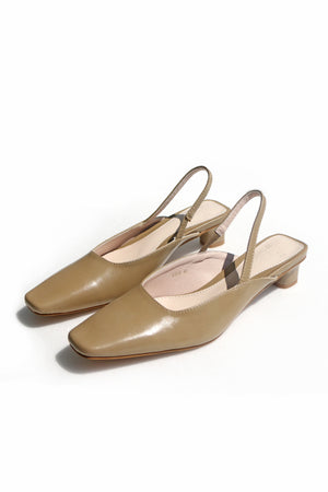 Load image into Gallery viewer, Eva Slingback Heels in Khaki