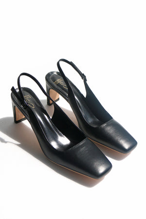 Load image into Gallery viewer, Bobbi Heels in Leather Black
