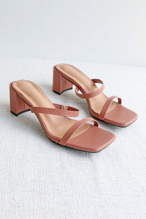 Load image into Gallery viewer, Lenka Strappy Heels in Mauve