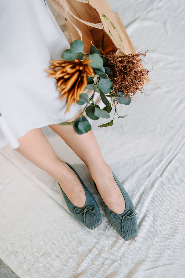 Ballet Flats in Teal
