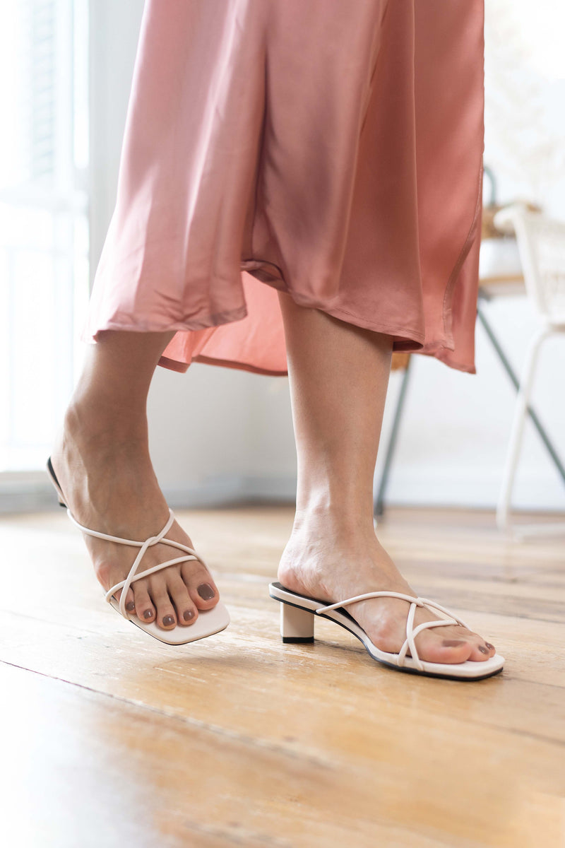 April Strappy Heels in White